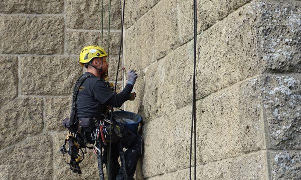 ropeworx Höhenarbeiten - Fassadenarbeiten am Pegelturm